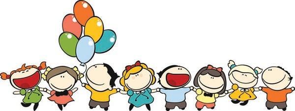 楽しく遊ぶ子供達の背景 children cartoon illustration vector2