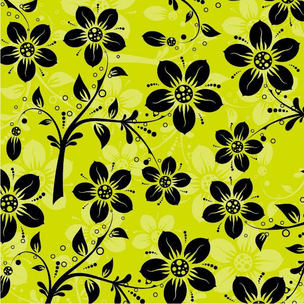 古典的な花柄の背景パターン Classical Floral Pattern