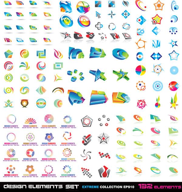 立体的なアイコンのデザイン見本 variety of threedimensional icon