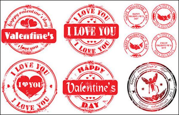 バレンタインデー 愛のスタンプ Valentine's Day love stamps