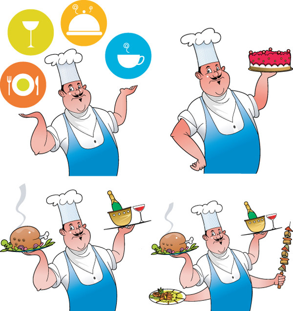 メニュー用シェフのクリップアート chef series menus vector6