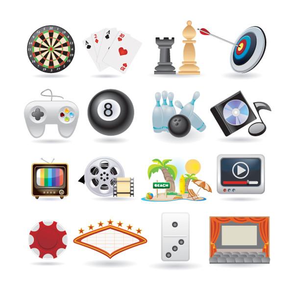 楽しい娯楽に関するアイコン lovely life entertainment icons