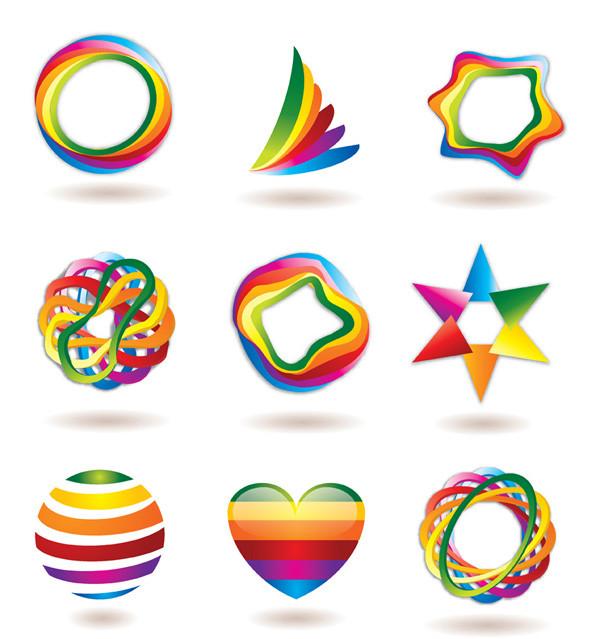 カラフルな色使いのグラフィック ロゴデザイン some logo vector graphic3