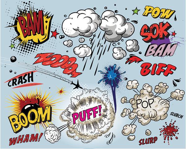 漫画のビックリマーク cartoon style vector explosion effect
