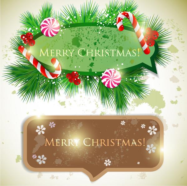 クリスマス飾りの吹出し christmas dialog box