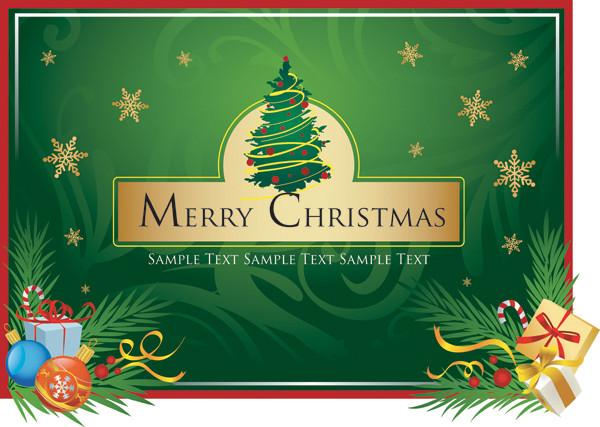 クリスマス飾りのクリップアート merry christmas clip art