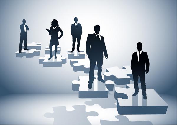 ビジネスマンのシルエット business people silhouette vector3