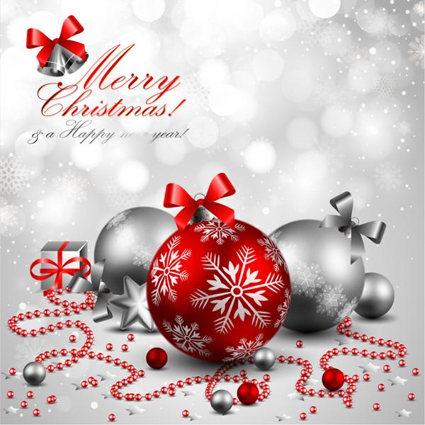 美しく輝くクリスマス飾りの背景 beautiful christmas background
