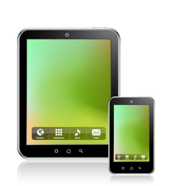 タブレット型パソコンのクリップアート Tablet PC Vector