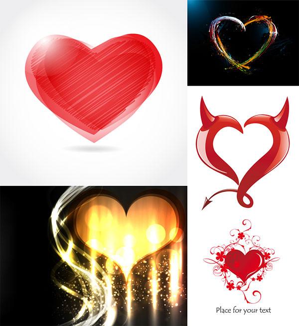 ロマンチックなハートのイラスト ROMANTIC HEART-SHAPED GRAPHIC