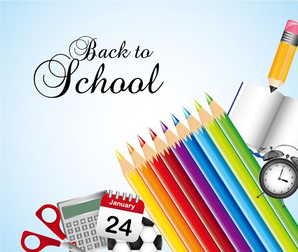 文房具の背景 school background stationery items3