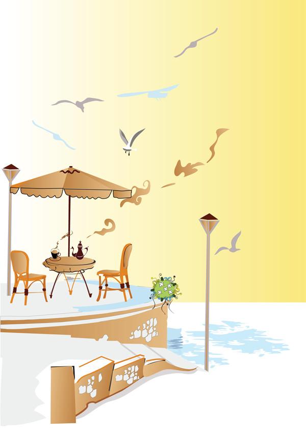 海辺のカフェ Seaside cafe