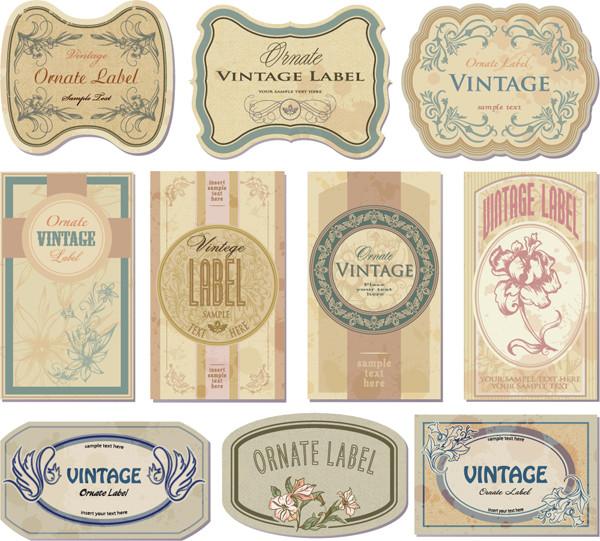 古風なラベル デザイン見本 nostalgic european label2