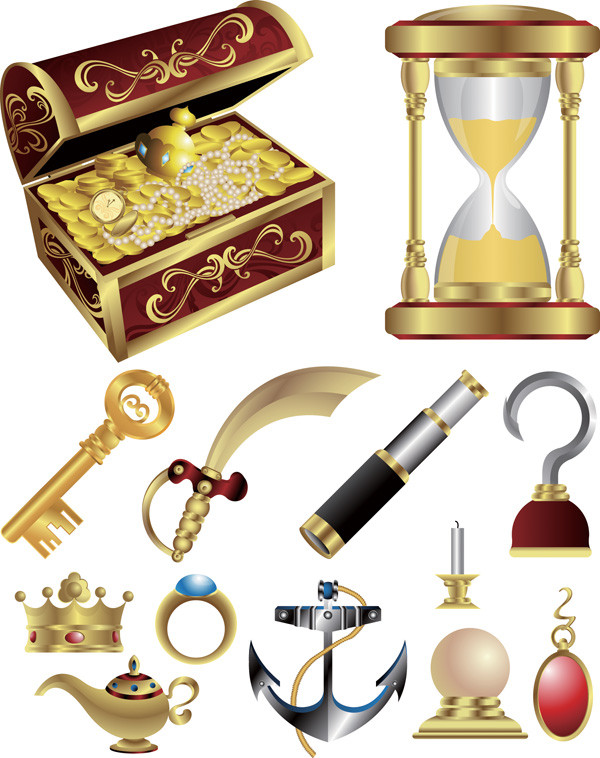 海賊の宝物クリップアート pirate treasure series vector3