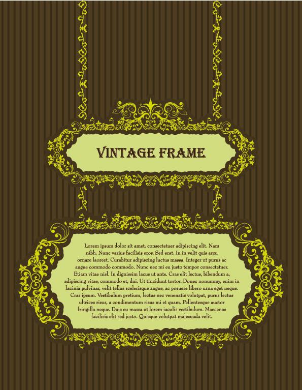 美しい金色レースのフレーム European-style classical gold borders frames 2