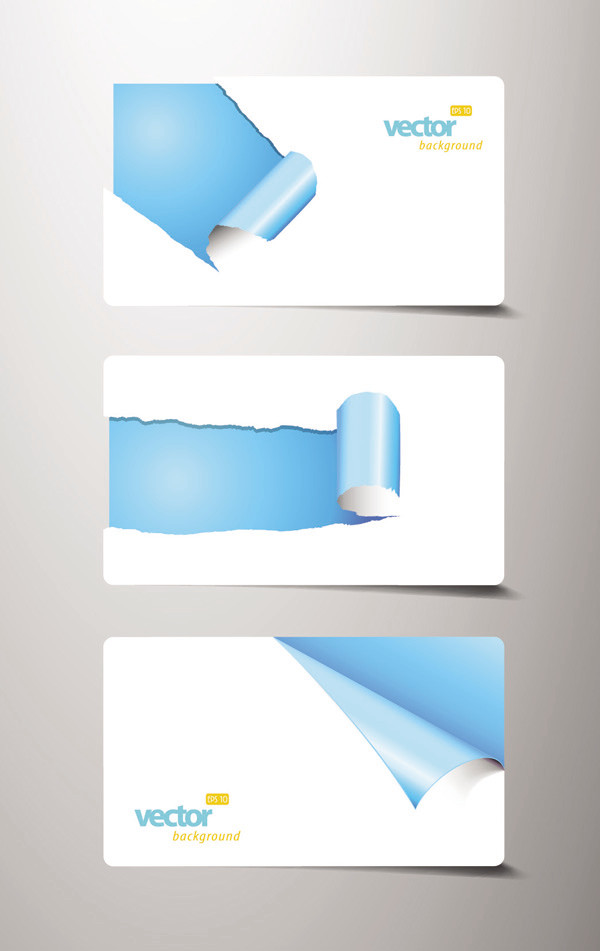 捲れた紙のカード Card of the paper curling