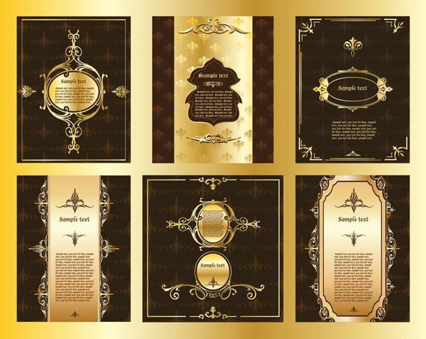 金色で豪華に装飾した背景 European-style gold pattern pattern edge border 4