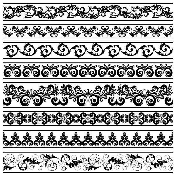 ヴィンテージ ボーダー パターン Vintage border pattern3