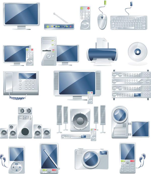 デジタル機器のアイコン digital product icon vector2