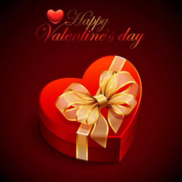 バレンタインデー ハート型のギフト箱 romantic valentine day heartshaped gift box1