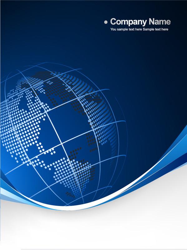 地球をイメージしたビジネス用背景 Blue business background with stylized earth globe