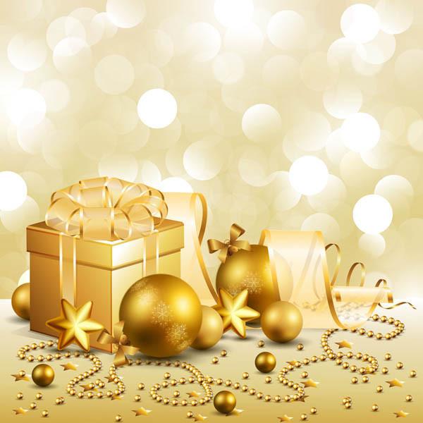 クリスマス ボールとギフト ボックス christmas gift box with ball vector1