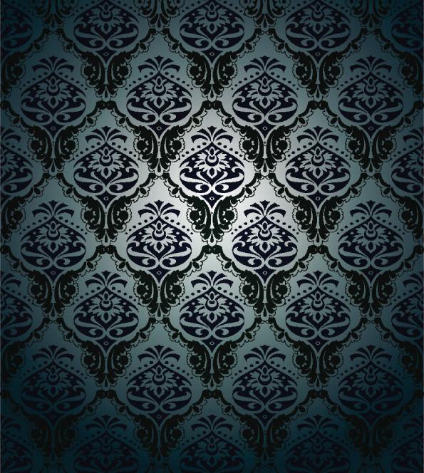 古典的なシームレス パターンの背景 beautiful shading pattern vector2