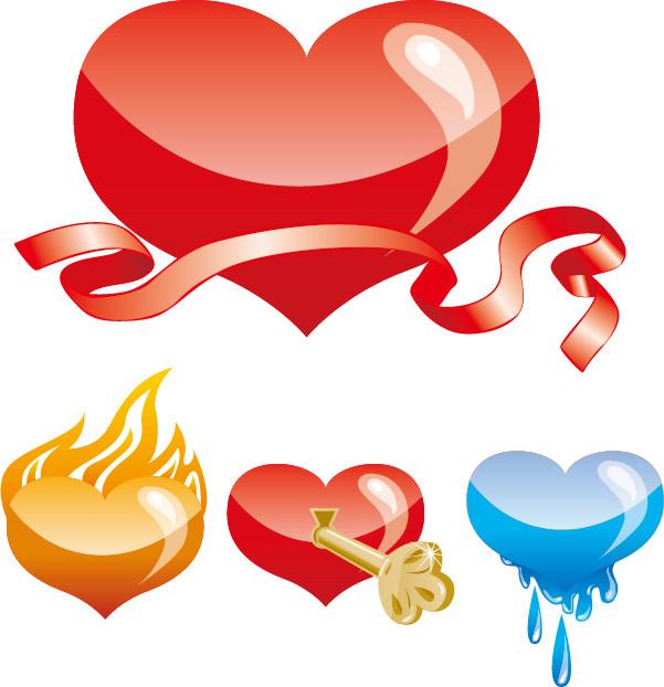 お洒落なハート型の素材 special heartshaped vector