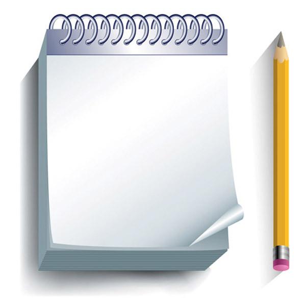 筆記用具のクリップアート pencil notebook office supplies1