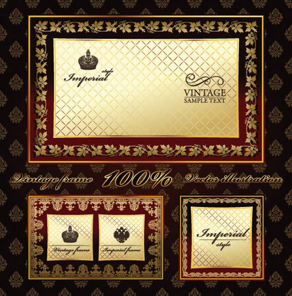 ヨーロッパ調の豪華なラベル見本 european exclusive label and border2