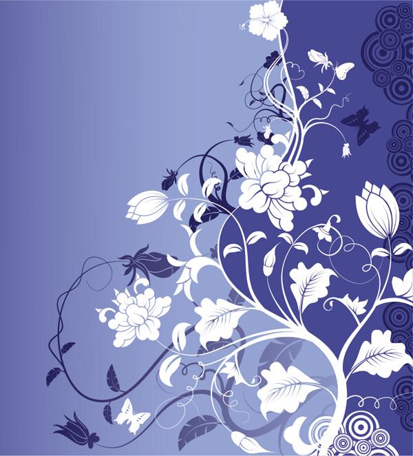 華麗な植物柄の背景 Gorgeous Fashion Flower Background