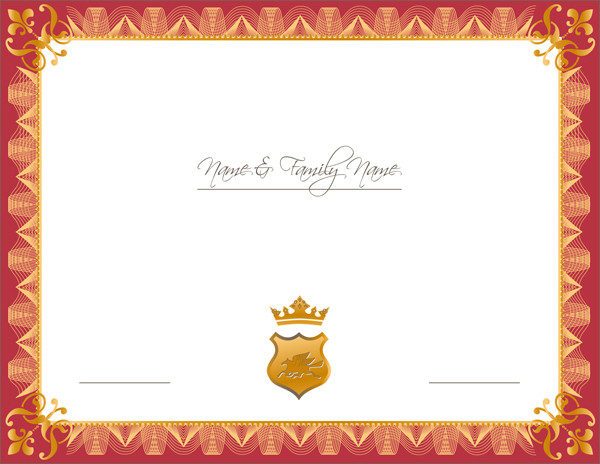 証明書デザインのテンプレート certificate design vector2