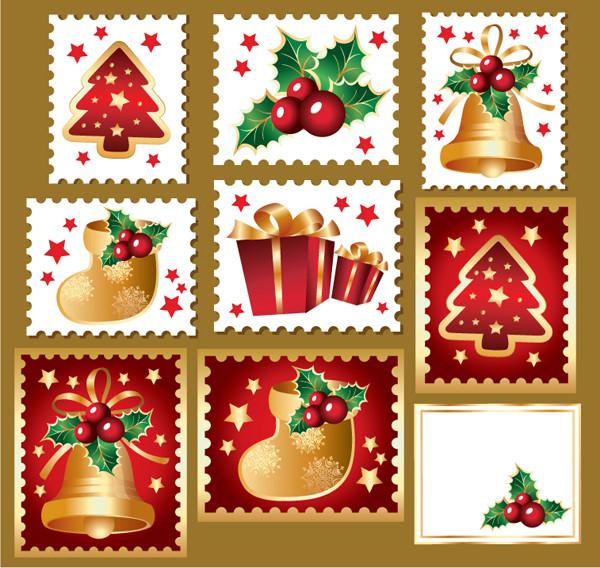 可愛いクリスマス切手のデザイン見本 cute christmas stamps2