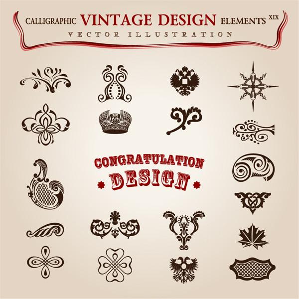美しい古典的なデザインパターン素材 Beautiful classic design pattern material