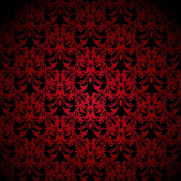 重厚な古典的パターンの背景 european gorgeous pattern vector background2
