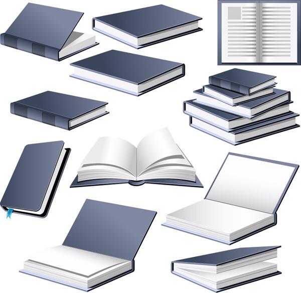本を描いたクリップアート Opened the book vector