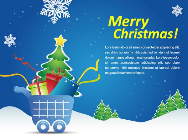 クリスマスプレゼントの背景 cartoon christmas background