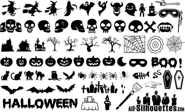 ハロウィンを飾るシルエット素材 Halloween Silhouettes