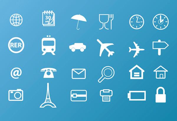 旅行関連のアイコン Travel Icons