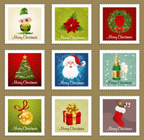 クリスマス飾りの切手見本 beautiful christmas ornaments stamp