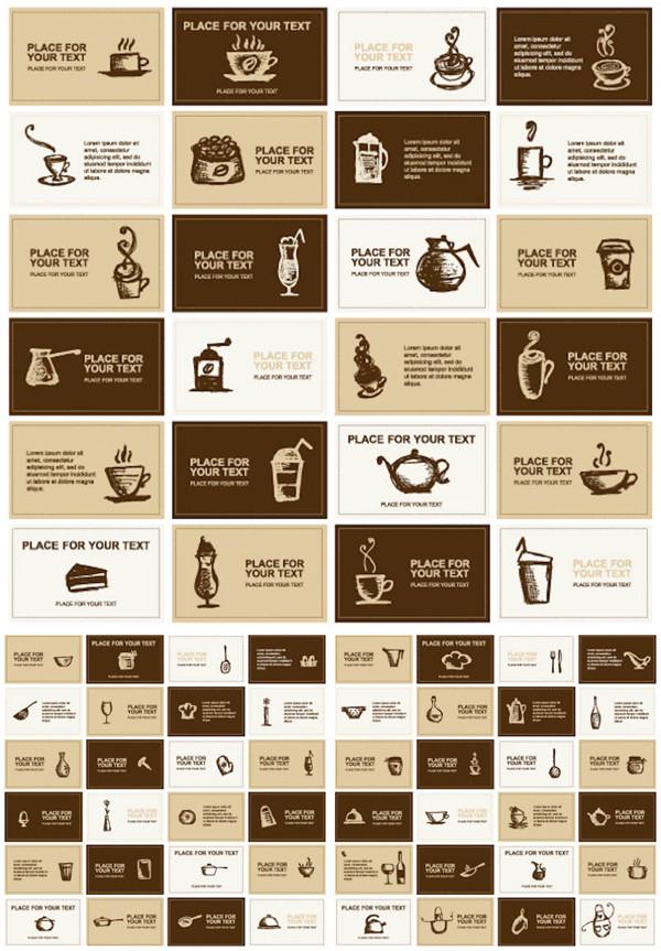 コーヒー ショップ カード テンプレート coffee business cards template