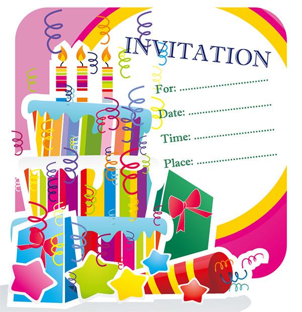 楽しい誕生会の招待状 happy birthday invitation