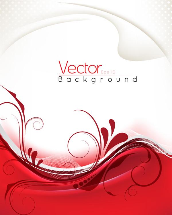 優雅な曲線の赤い背景 red delicate pattern background