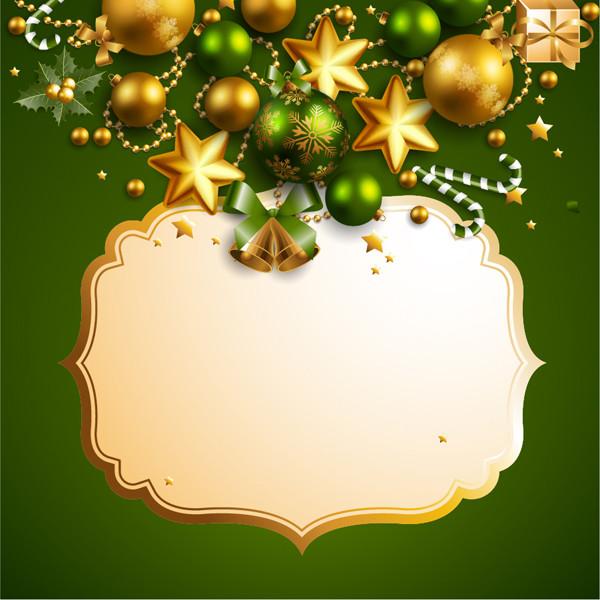 美しいクリスマス飾りのテキストフレーム beautiful christmas border background