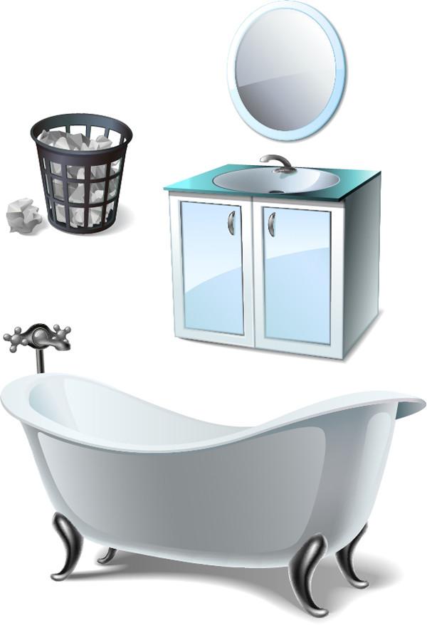 洗面台とバスタブ washing basin bathtub daily necessities
