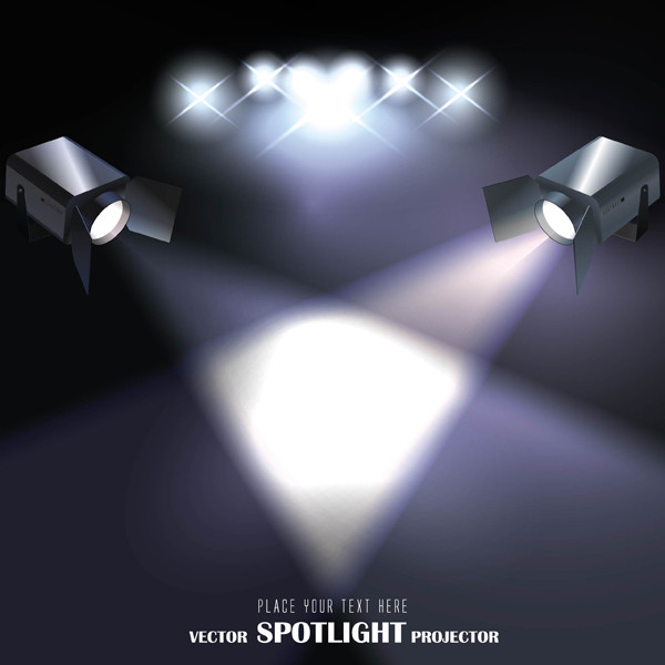 スポットライトの光 spot light projector vector2