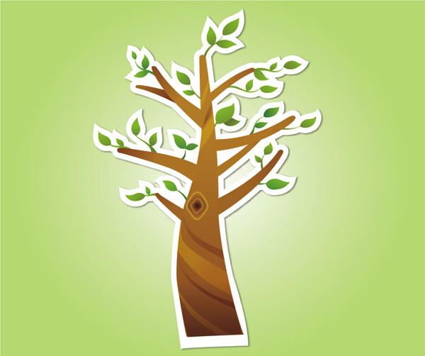 春の樹のクリップアート Abstract Spring Tree Clip-art