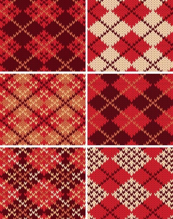 お洒落なアーガイル柄パターン elegance continuous pattern vector