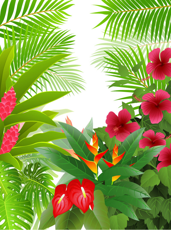 植物の背景 green leaves theme background