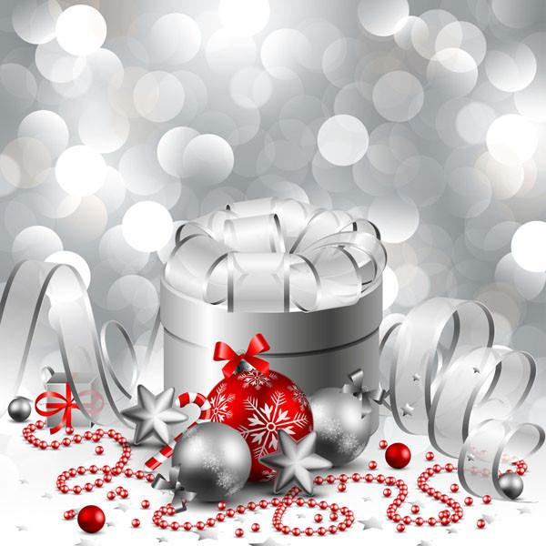 クリスマス ボールとギフト ボックス christmas gift box with ball vector2